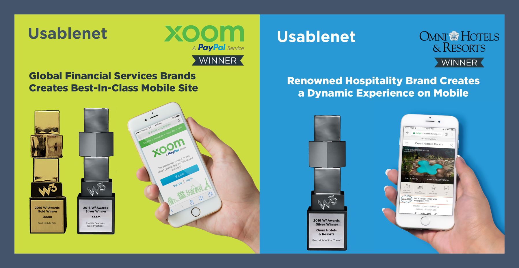 2016 W3 Awards for Omni Hotels and Xoom