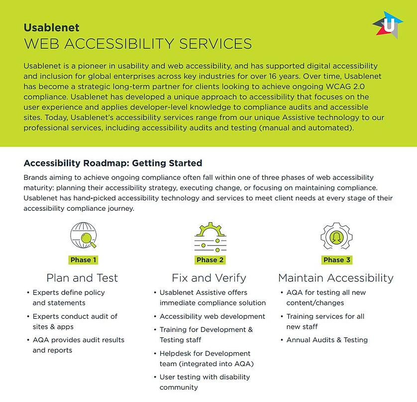 UsableNet Web Accessibility Services