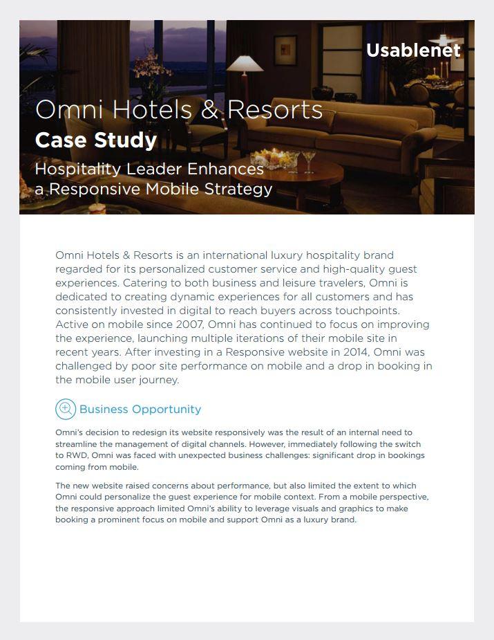 Omni Hotels and Resorts Case Study