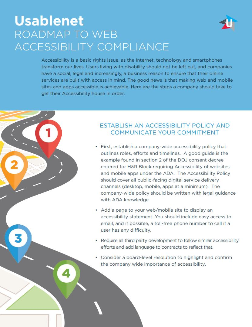 Roadmap to Web Accessibility Compliance Infographic
