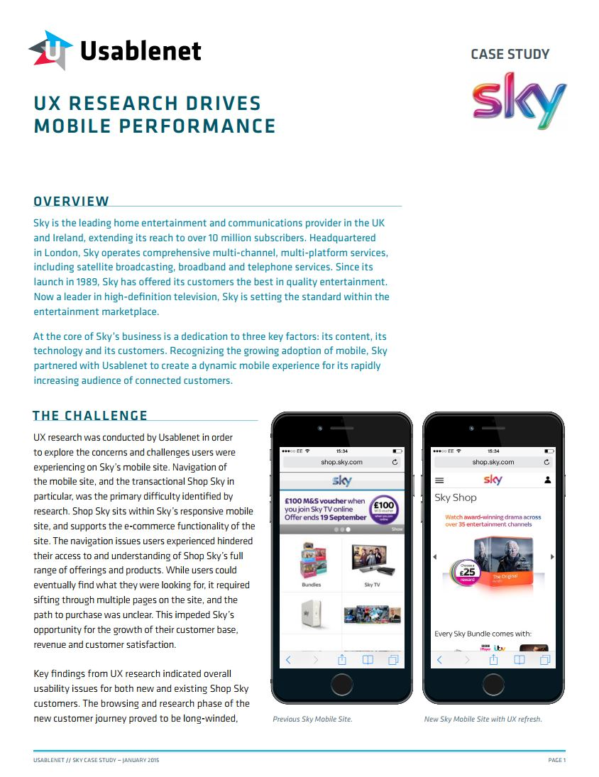 Sky UX Research Case Study