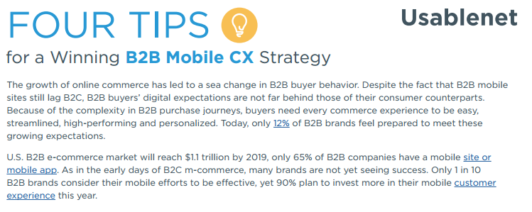 Four Tips for a Winning B2B Mobile CX Strategy