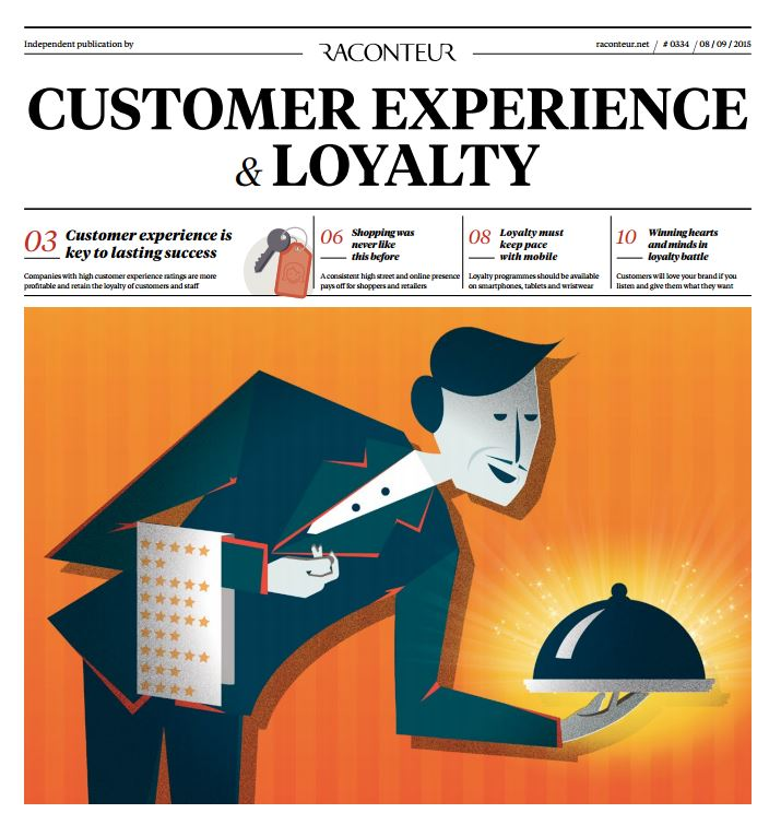 Front page of the digital economy report on customer experience and loyalty
