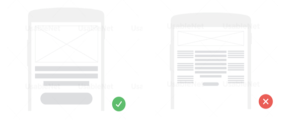 do's and don'ts when designing for small screens