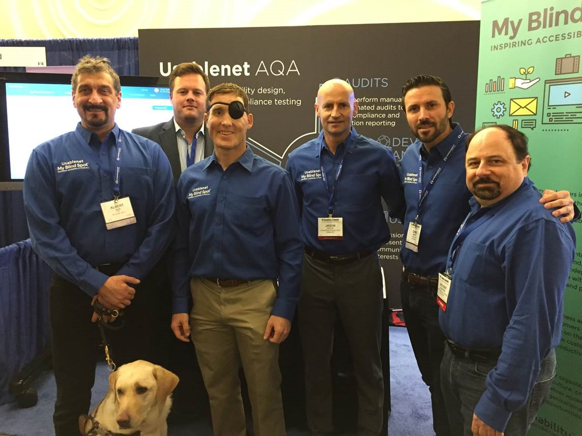 group photo of members from Usablenet and My Blind Spot