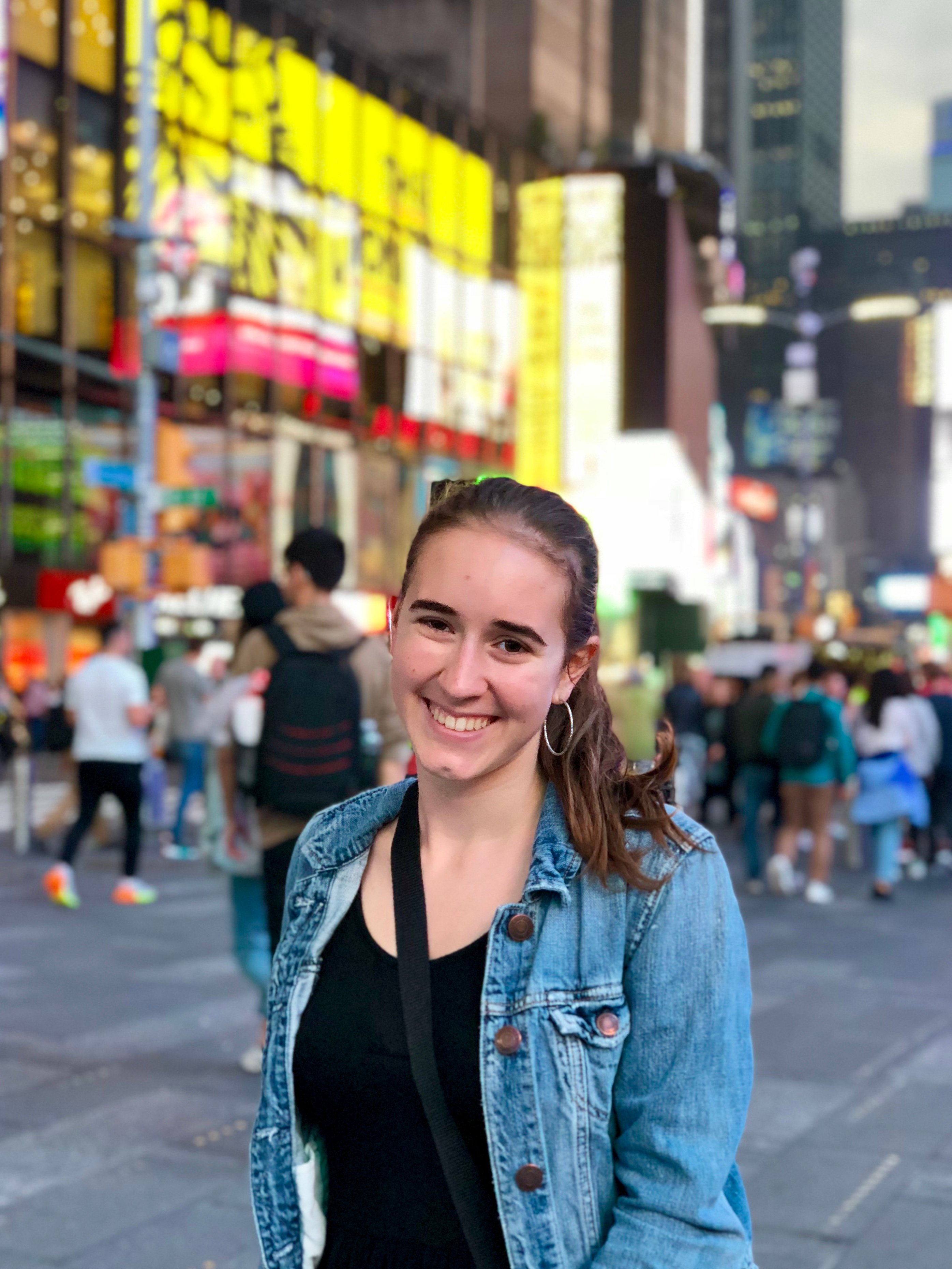 Author Brielle Cayer in New York City