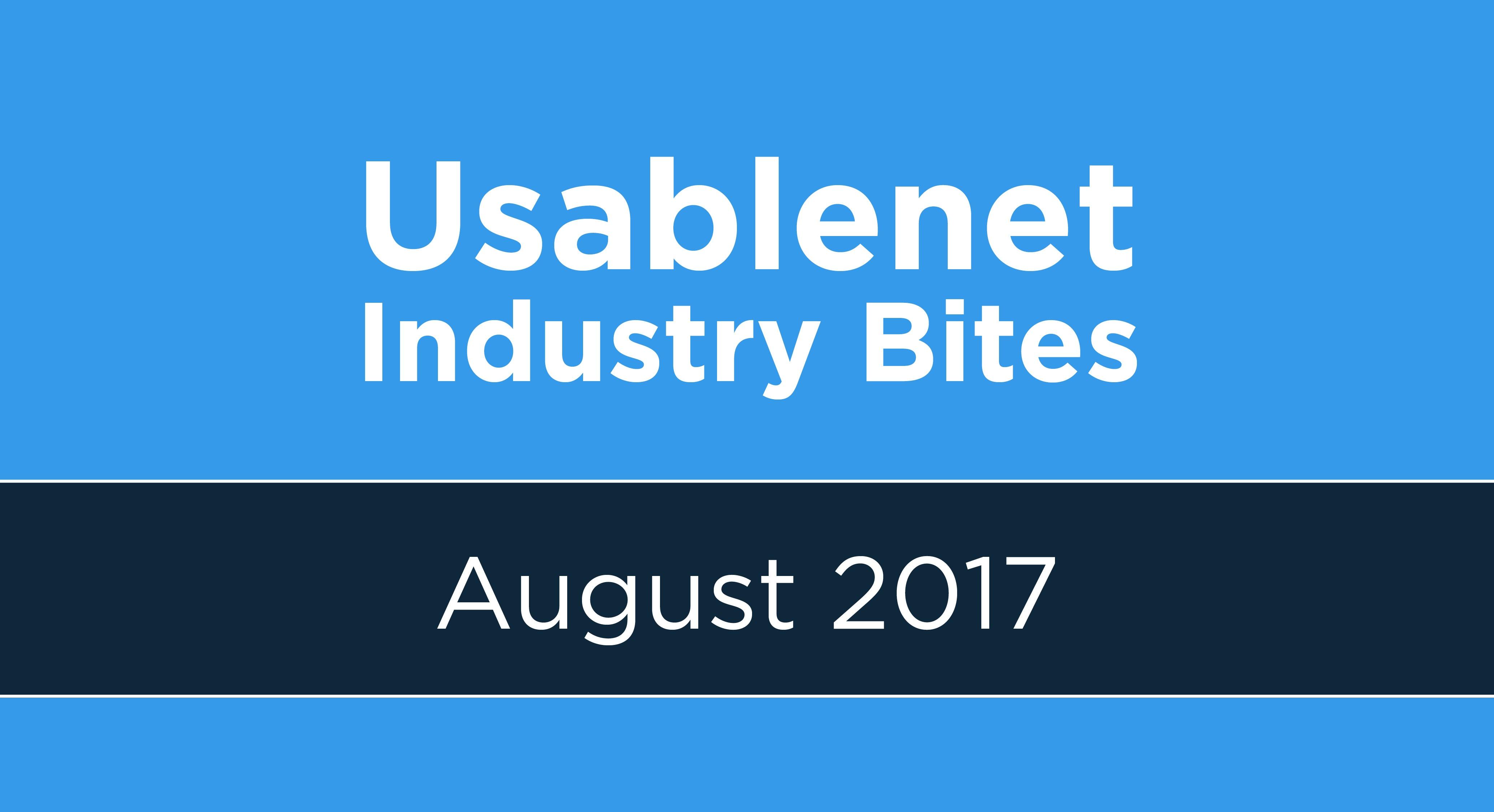 Industry Bites: August 2017 [Newsletter]