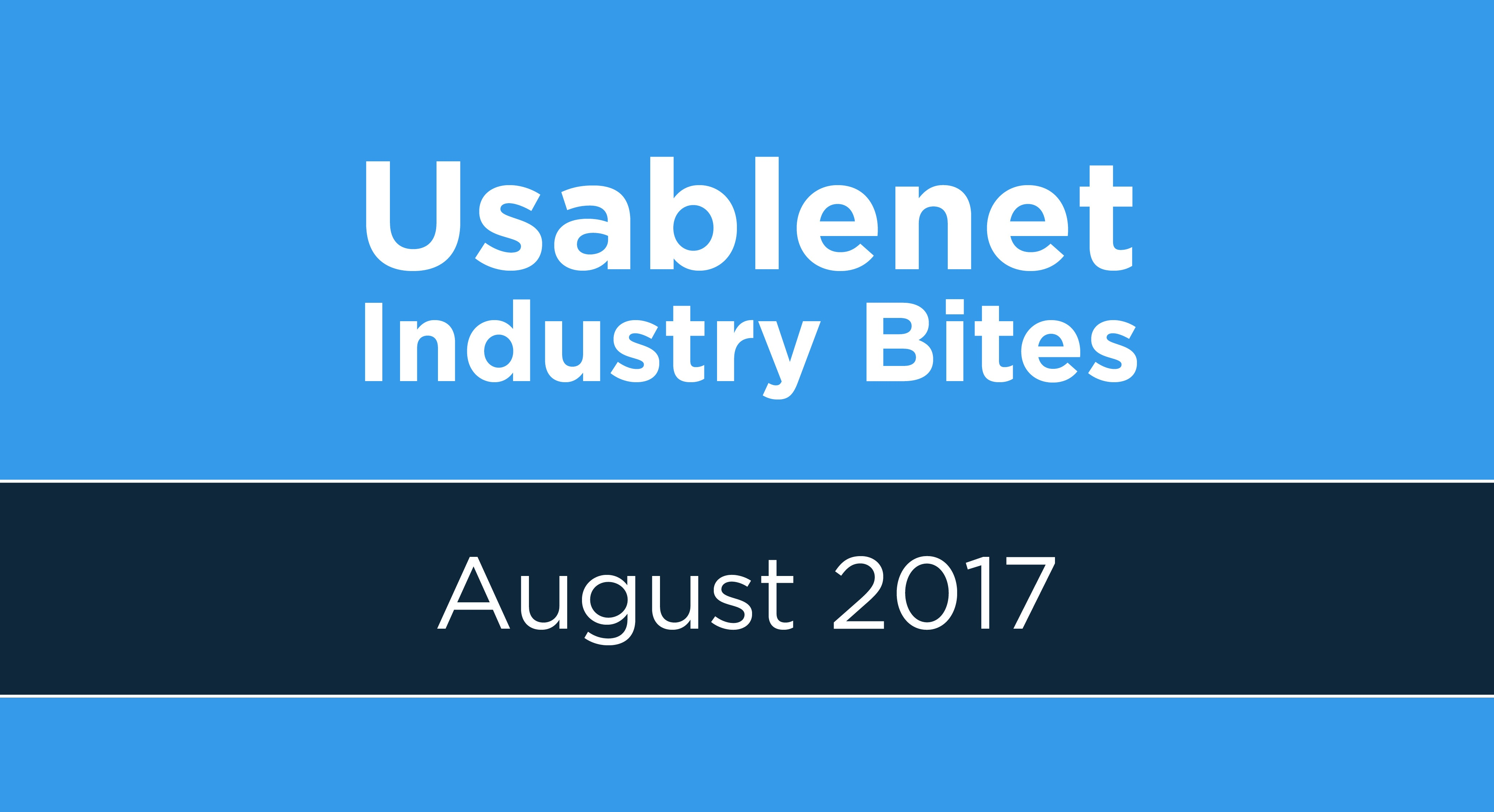 Industry Bites: August 2017 [Newsletter]