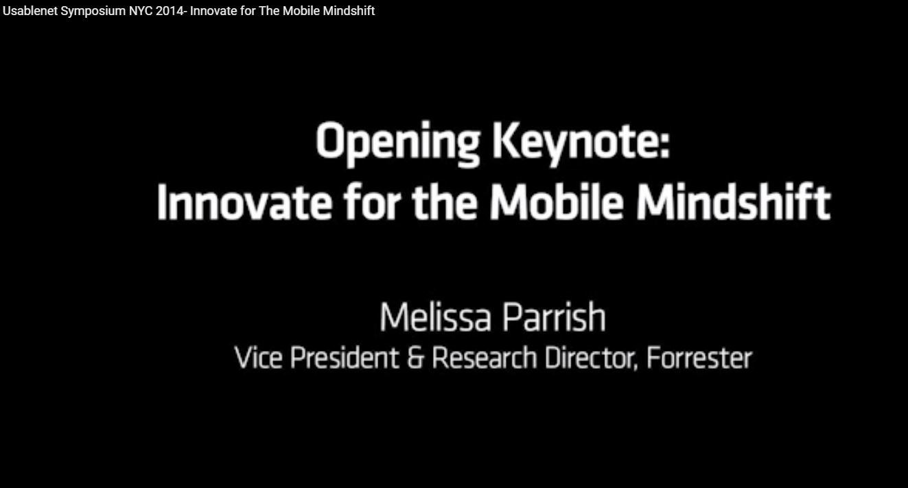 Usablenet Symposium NYC 2014 - Innovate for the Mobile Mindshift [Video]